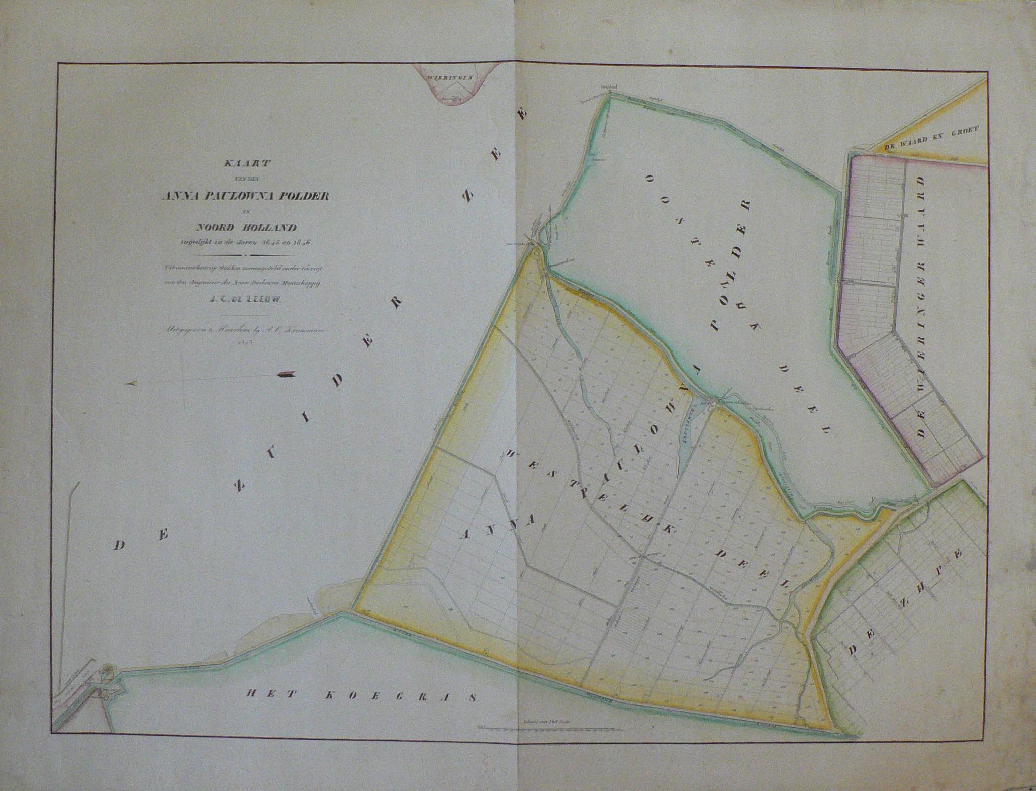 noord holland kaart